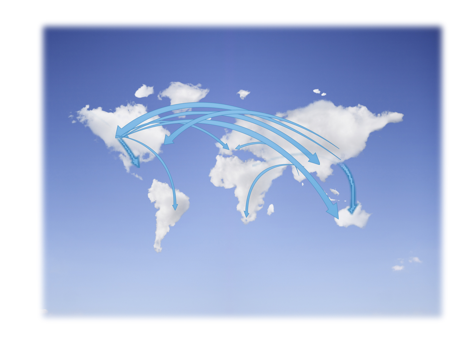 Globe clouds backgrounds powerpoint ppt templates alramifo Image collections