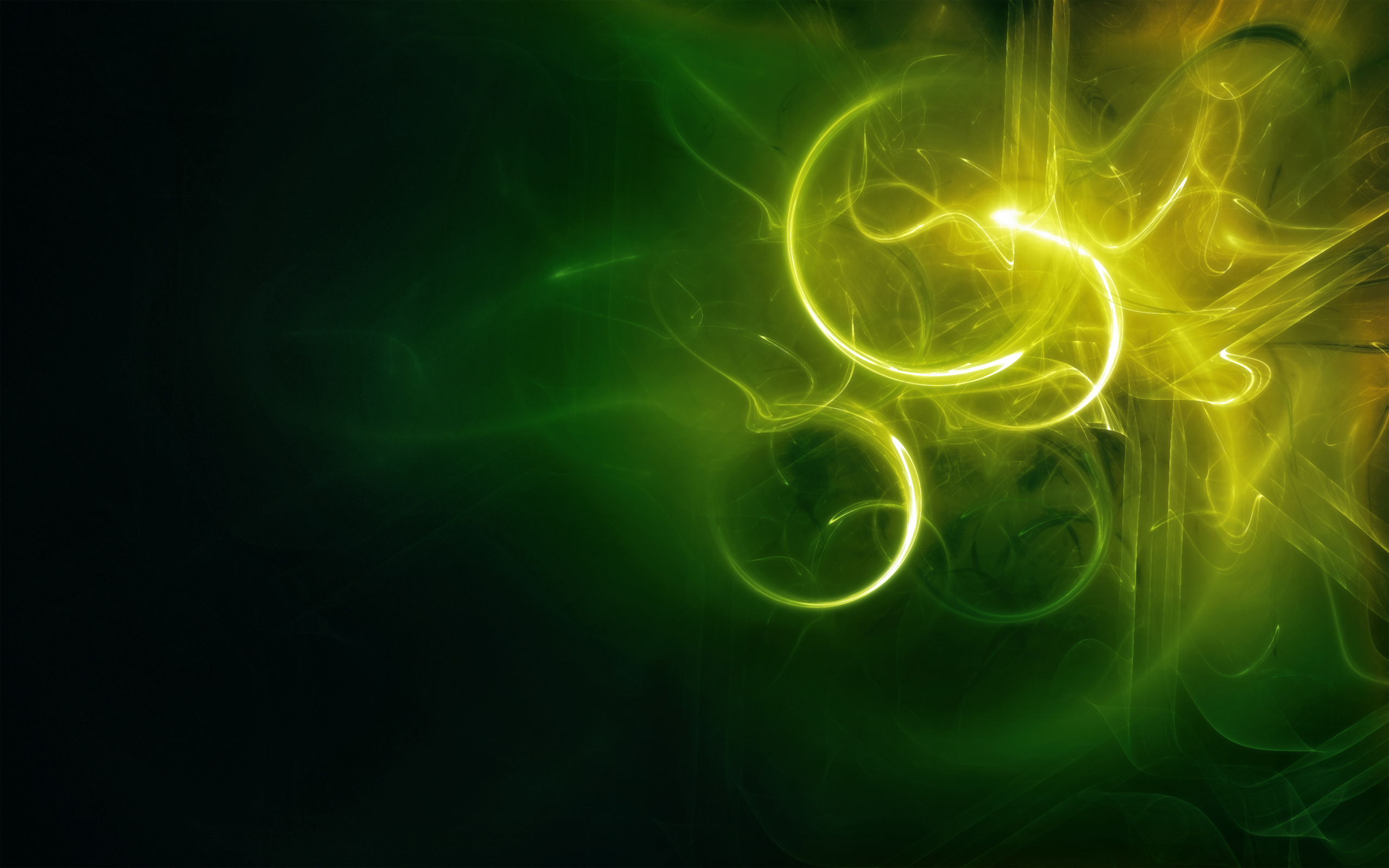 Abstraction-light-rays-green-patterns-colors-powerpoint