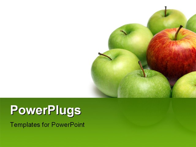 Apples red apple powerpoint template download maxwellsz