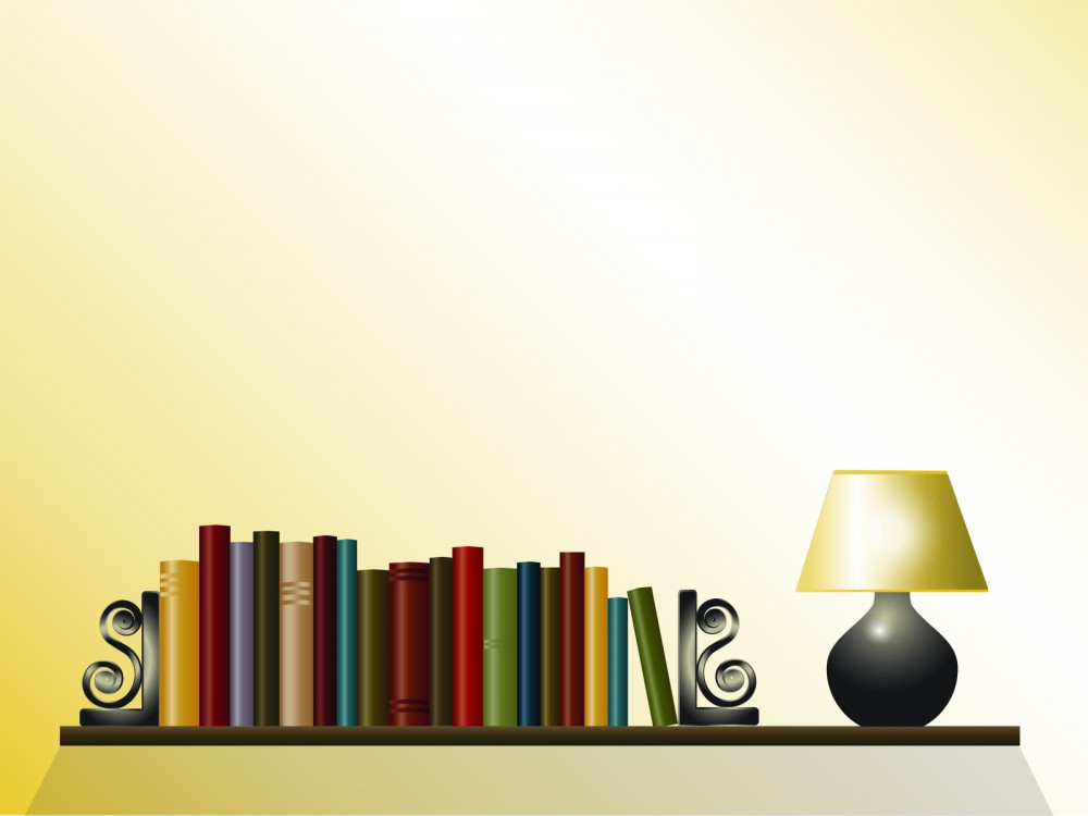 lamp-books-ppt-background-template-blue